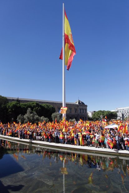 Miles de ciudadanos se concentran en Madrid en defensa de la unidad de España. Foto: Francisco Toledo