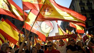 Manifestación por la unidad de España en Barcelona. (Foto: AFP)