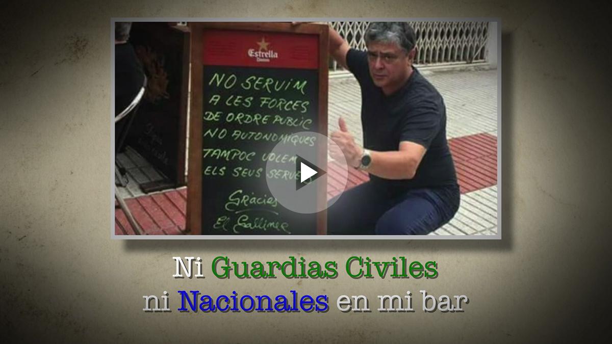 El propietario del bar El Galliner de Calella, que prohibió la entrada a policías y guardias civiles.