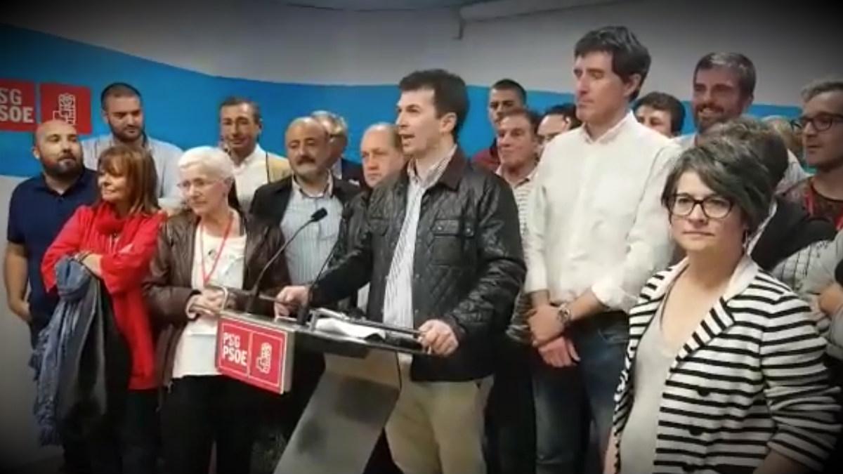 El nuevo secretario general del PSOE gallego, Gonzalo Caballero.
