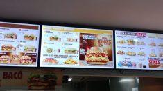 Menú de Burger King en Barcelona. (Foto: Borja Jiménez y Raquel Tejero).