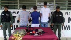 Los tres periodistas detenidos en la cárcel venezolana de Tocorón. (SNTP)