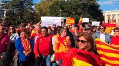 Imagen de la manifestación a favor de la unidad de España en Ginebra