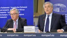 El presidente de la Comisión, Jean-Claude Juncker, y el del Parlamento Europeo, Antonio Tajani.