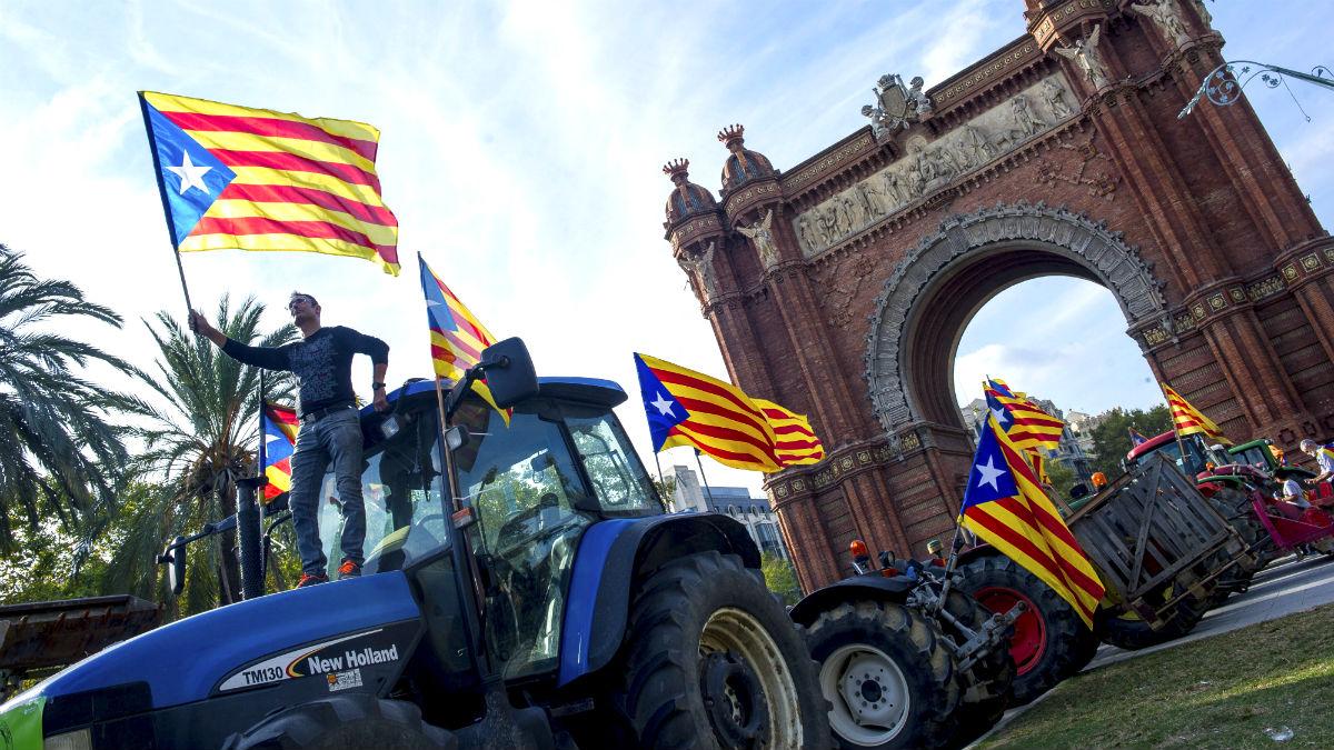 Agricultores en Barcelona (Foto: EFE).