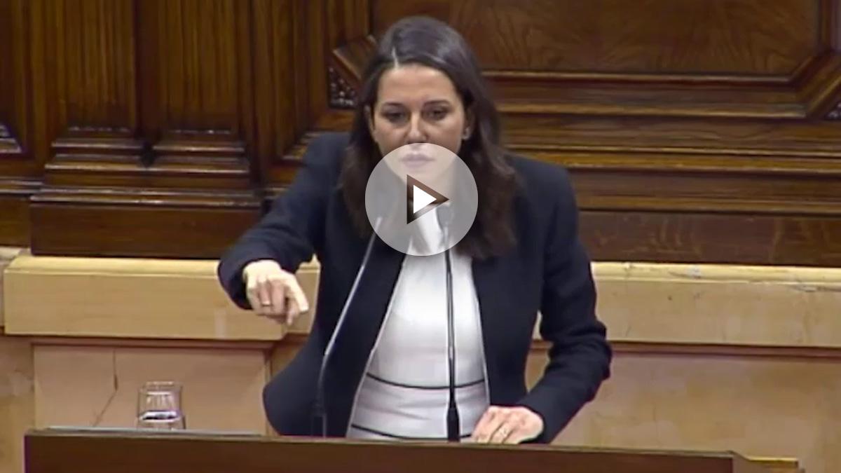 Inés Arrimadas hoy en el Parlament