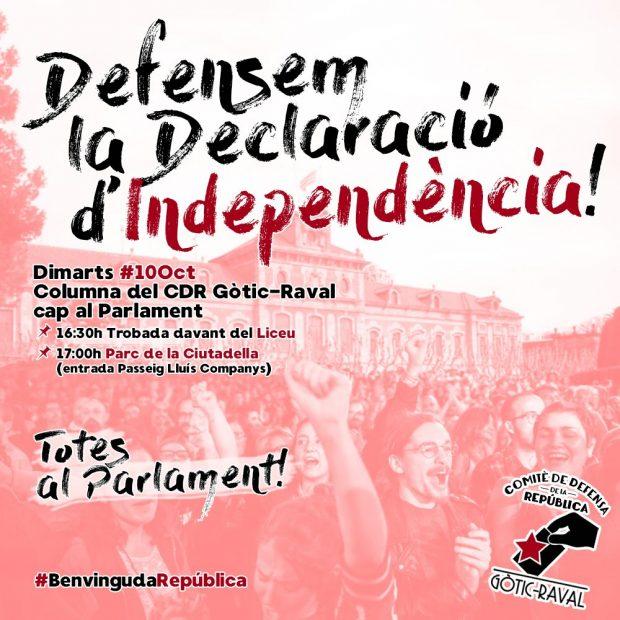 Comité de Defensa del Referéndum, CDR, Gòtic-Raval.