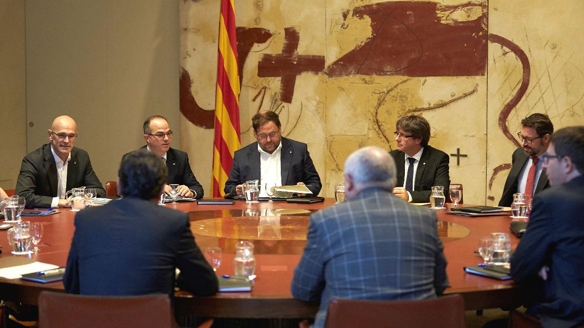 Reunión del Gobierno de Cataluña. (Foto: EFE)