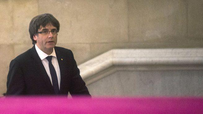 Así fue la comparecencia de Puigdemont sobre la declaración de independencia