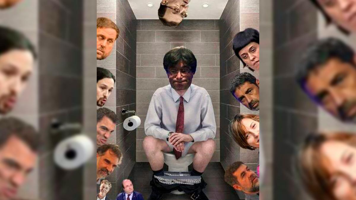 Meme de Carles Puigdemont el martes 10-O