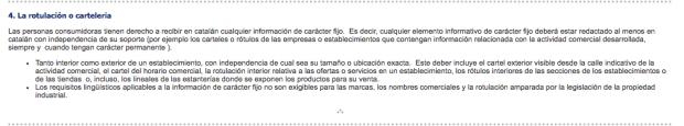 Los comercios de Barcelona que se niegan a rotular en catalán: