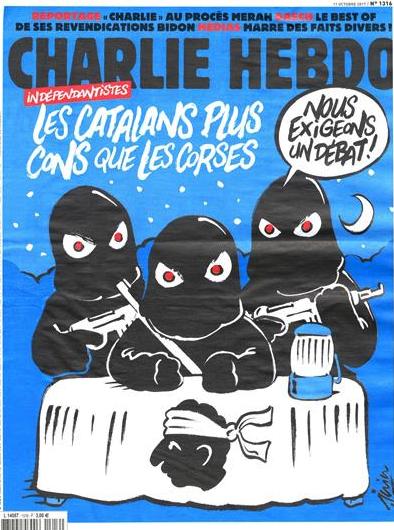 'Charlie Hebdo' dedica su portada a Cataluña: «Los catalanes, más tontos que los corsos»