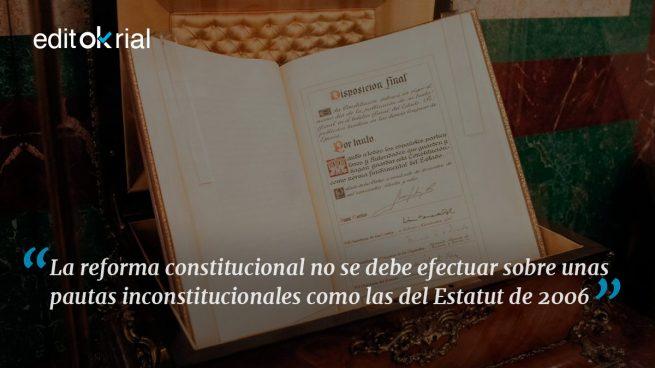 Retocar la Constitución sí, destrozarla no