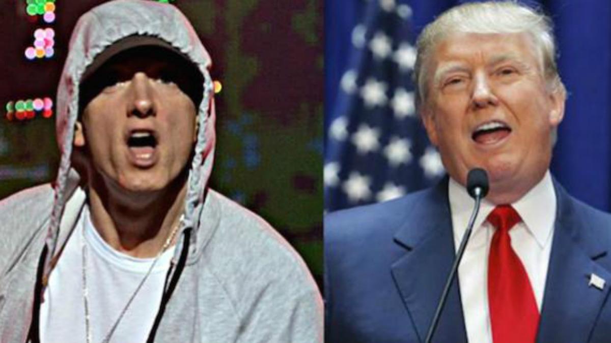 El rapero Eminem y el presidented e EEUU, Donald Trump.
