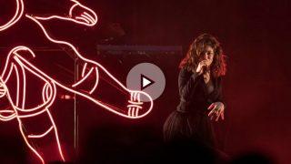 Lorde en su único concierto en España en el Sant Jordi Club de Barcelona. Foto: EFE
