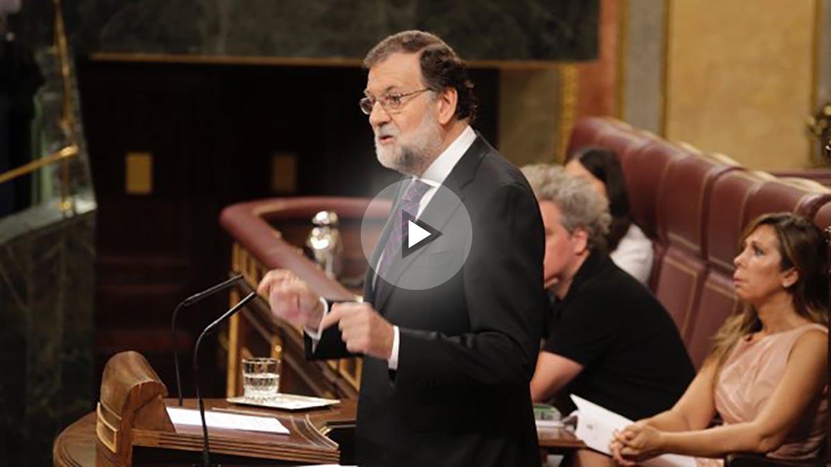 Mariano Rajoy comparece ante el pleno del Congreso. (Foto: Francisco Toledo)