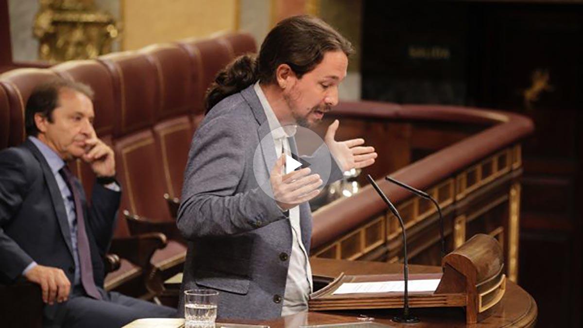 Pablo Iglesias habla durante el pleno en el Congreso. (Foto: Francisco Toledo)