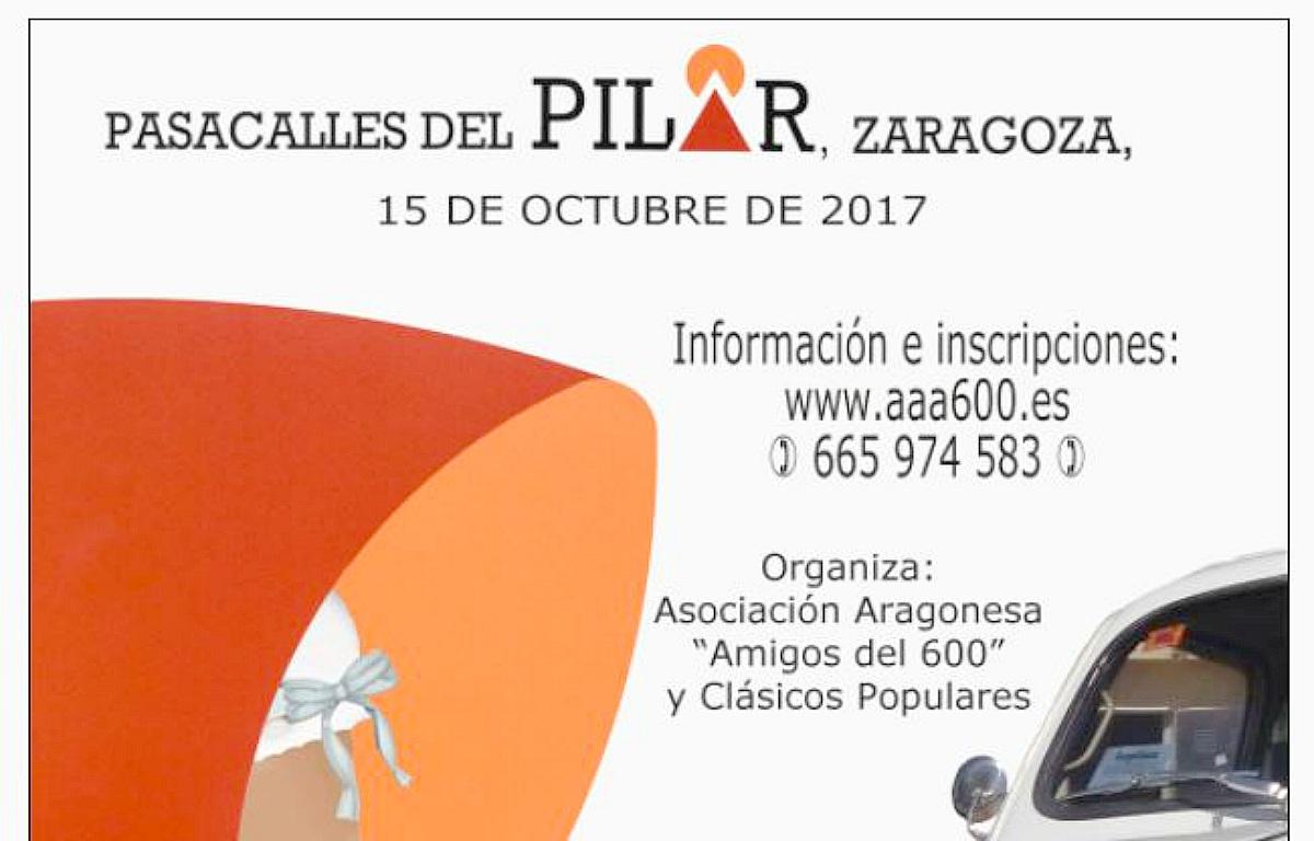 Concentración de Seat 600 en las Fiestas del Pilar 2017