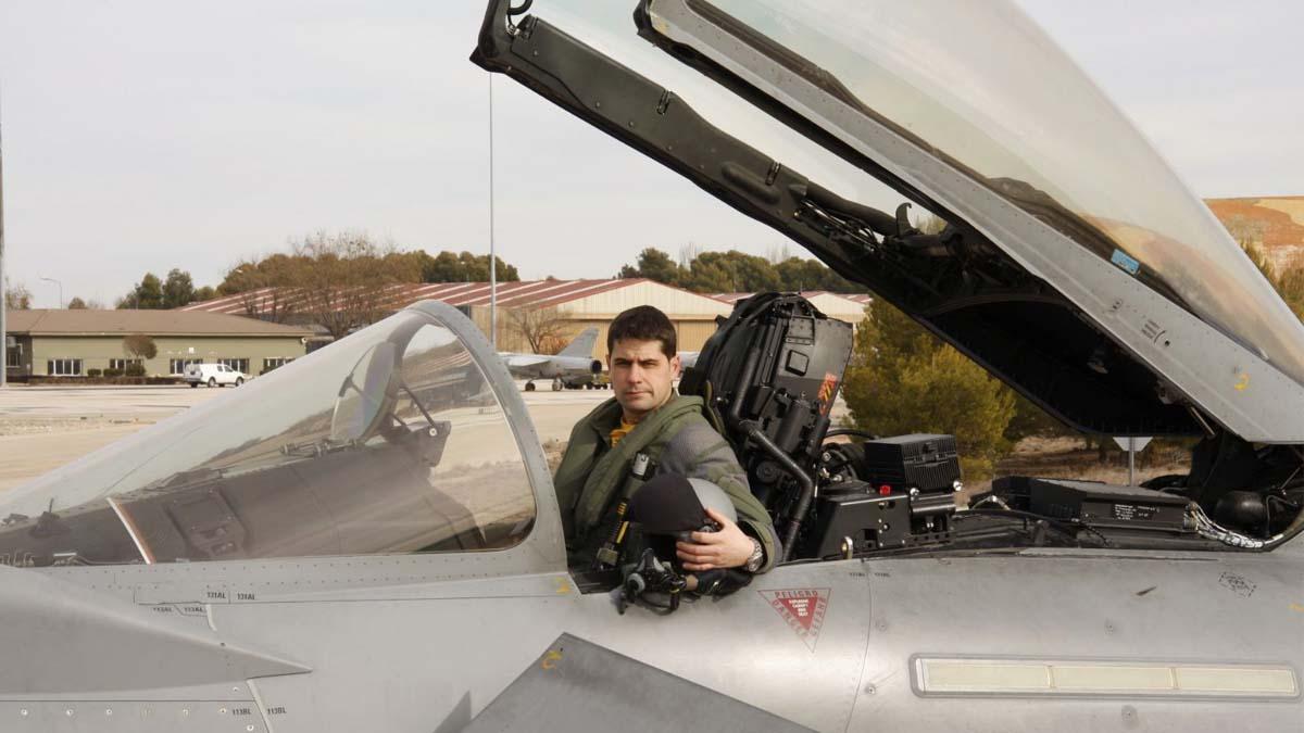 El capitán del Ejército del Aire Borja Aybar. Foto: EFE