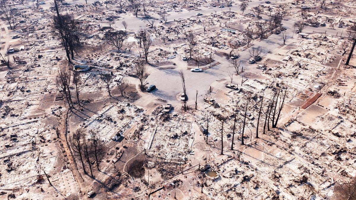 Efectos de los incendios forestales en California. (Foto: AFP)