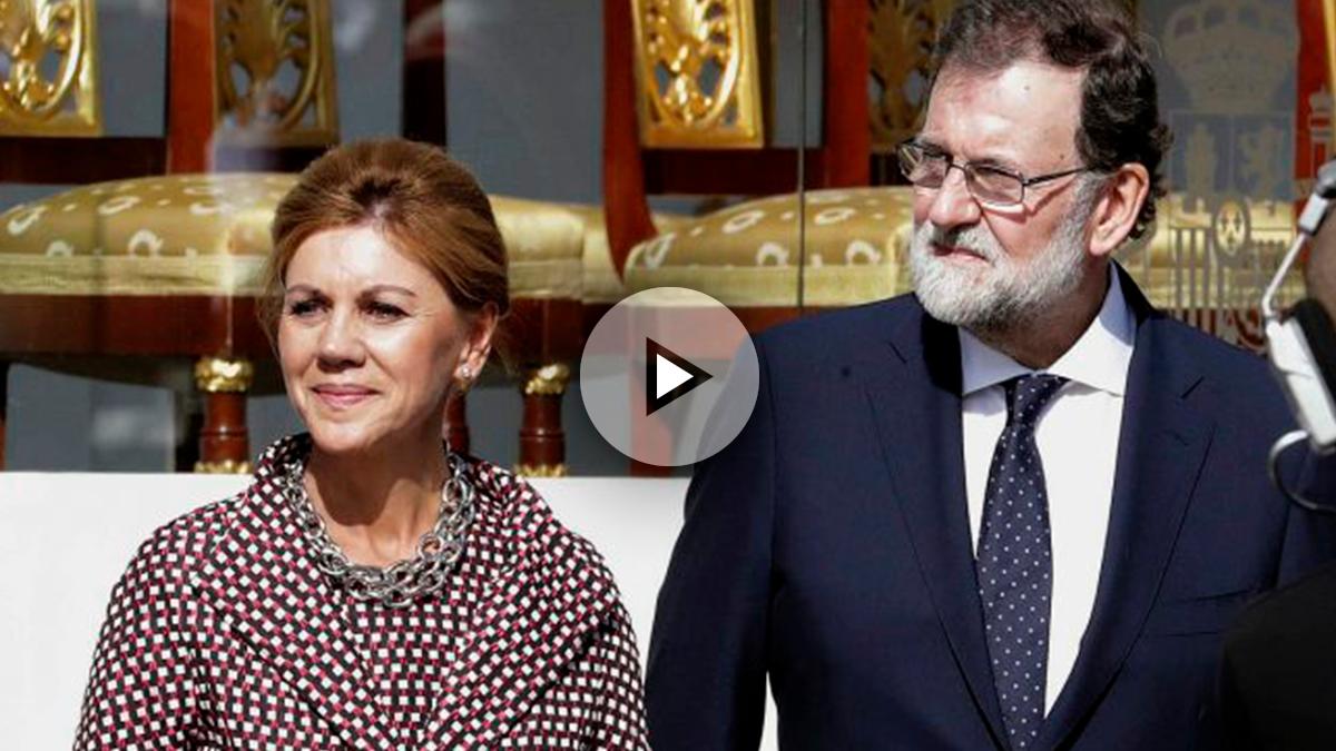 Mariano Rajoy y María Dolores de Cospedal en el desfile del 12-O.