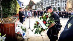 Un momento del homenaje al ertzaintza asesinado por ETA (Foto: Efe).
