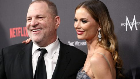 Harvey Weinstein y su mujer Georgina Chapman (Foto. Getty)