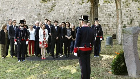 Un momento del homenaje a Companys (Foto: Efe).