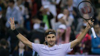 Roger Federer celebra una victoria ante Rafa Nadal. (AFP)