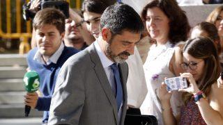 El mayor de los Mossos d'Esquadra, Josep Lluís Trapero, en la Audiencia Nacional (Foto: Efe).