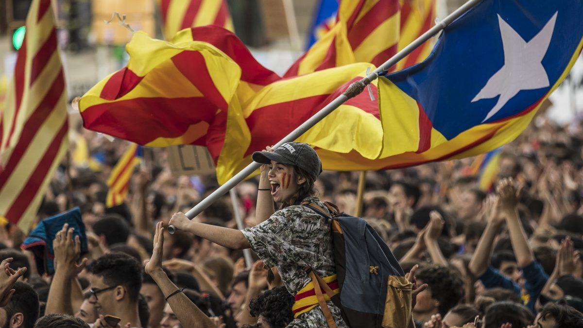 Día de la celebración del referéndum ilegal en Cataluña.