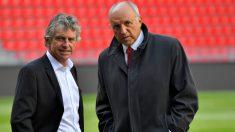 El entrenador y el presidente del Rennes, despedidos de una tacada. (AFP)