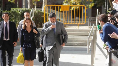 Josep Lluís Trapero a la salida de la Audiencia Nacional. (Foto: Francisco Toledo)