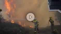 La UME luchando contra el fuego