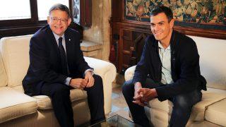Ximo Puig y Pedro Sánchez. (Foto: PSOE)