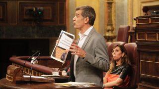 Toni Cantó durante su intervención en el Congreso de los Diputados. (Foto: Francisco Toledo)