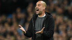 Guardiola, en uno de los encuentros con el Manchester City.