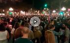 Nueva protesta en defensa de los sediciosos Sànchez y Cuixart en Barcelona