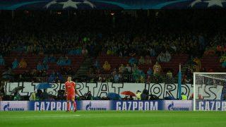 En la pancarta se puede leer 'Libertad Jordis'. (Getty)