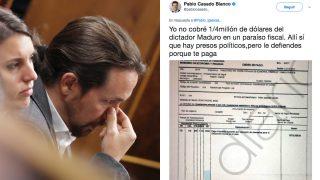 Tuit de Pablo Casado en respuesta a las acusaciones de Pablo Iglesias.