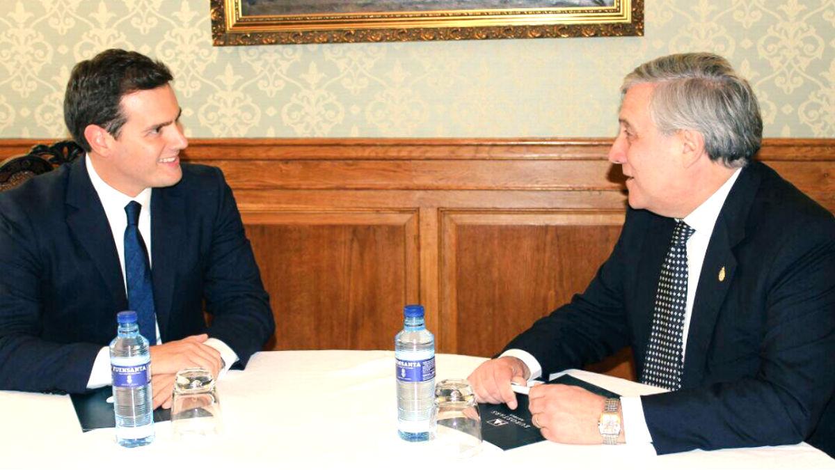 Albert Rivera y Antonio Tajani este viernes en Oviedo.