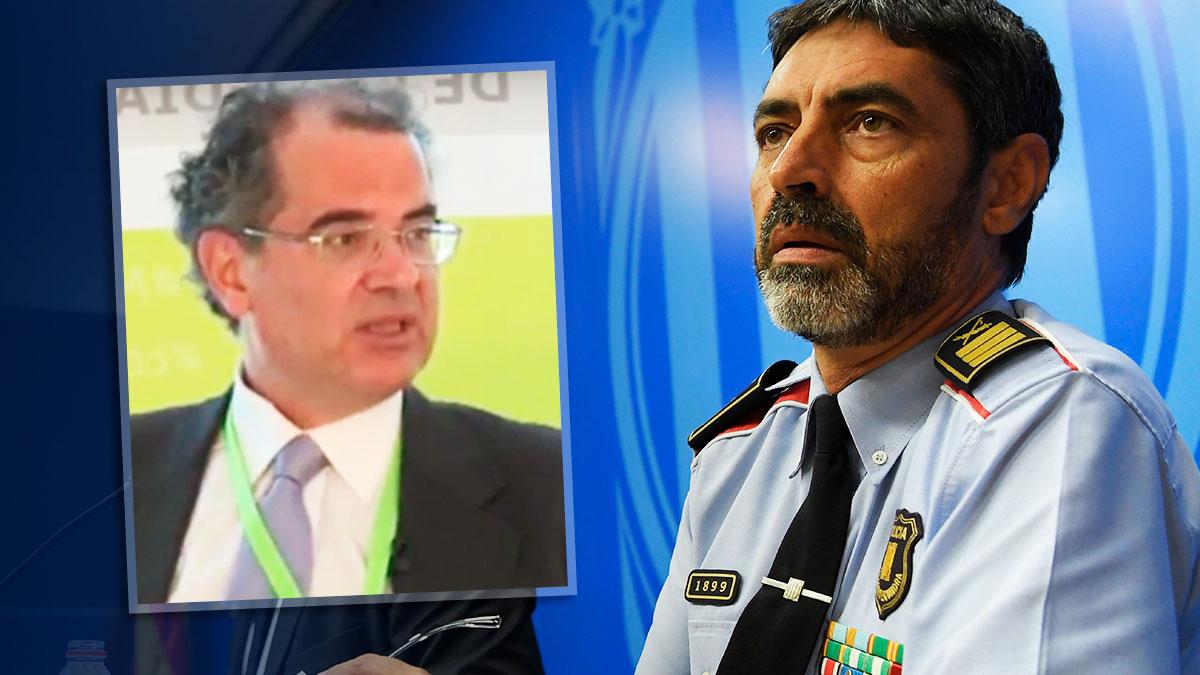 El juez Joaquín Aguirre y el mayor de los Mossos d'Esquadra, Josep Lluís Trapero.