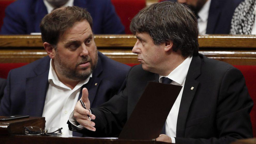 Oriol Junqueras y Carles Puigdemont (Foto: EFE)