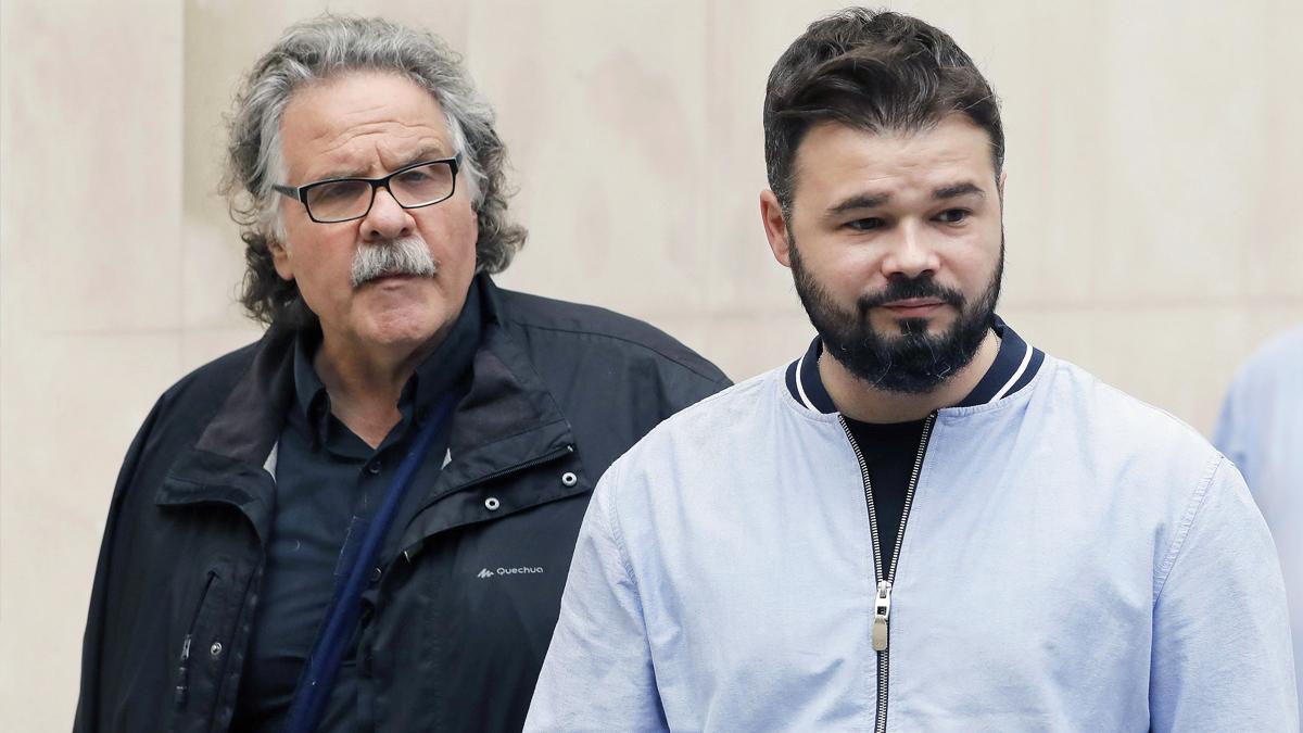 Gabriel Rufián y Joan Tardà. (Foto: EFE)