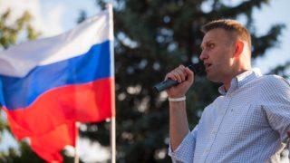 Alexei Navalny, el líder opositor ruso, en un mitin.