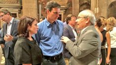 Adriana Lastra, Pedro Sánchez y José Montilla. (Foto: @JoseMontillaA en Twitter)