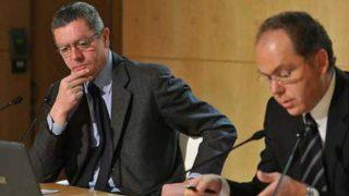 El expresidente de la Comunidad de Madrid, Alberto Ruiz Gallardón y el exconsejero de Hacienda y actual presidente de Adif, Juan Bravo.