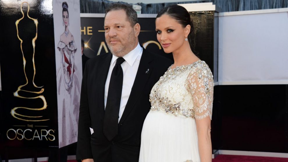 Georgina Chapman y Harvey Weinstein en la gala de los Oscar. Foto: Getty