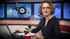 Tatiana Felguengauer, la periodista rusa agredida con un cuchillo en la garganta en la radio Ejo Moskvi.