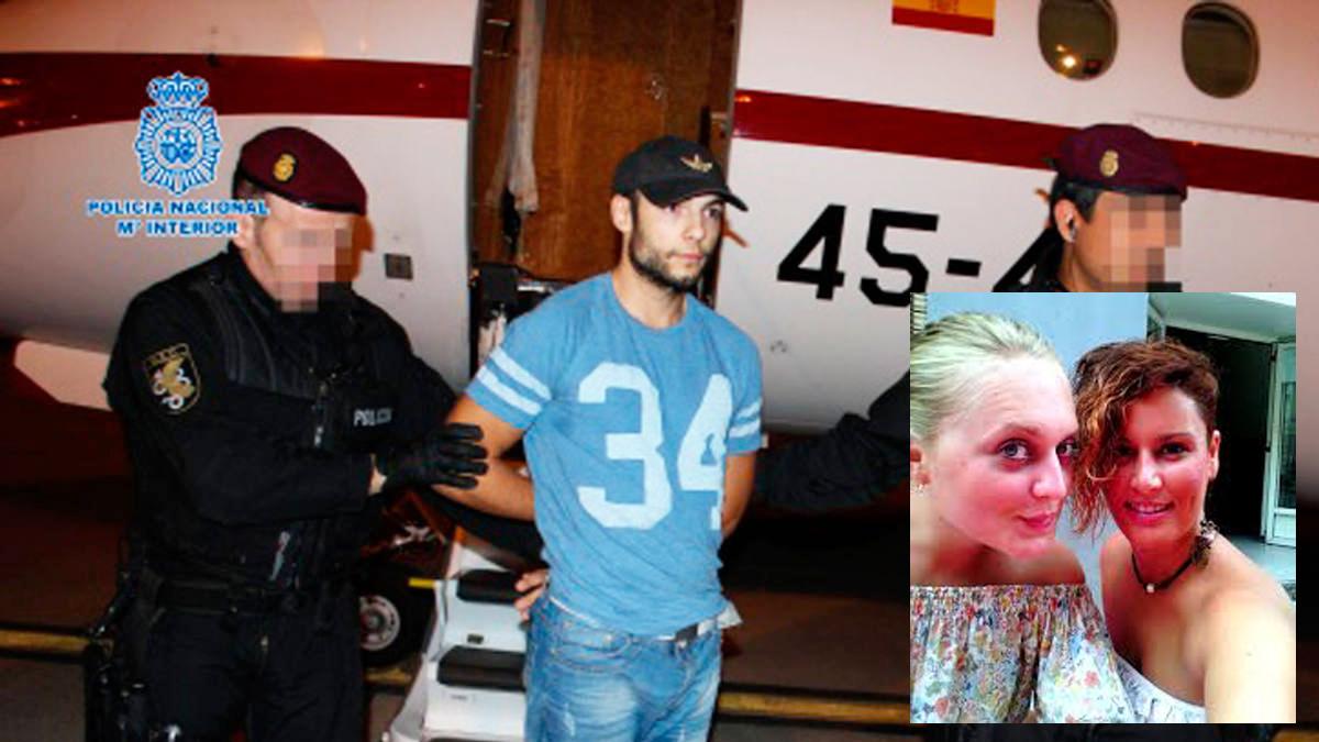 Sergio Morate y sus dos presuntas víctimas, Marina Okarinska y Laura del Hoyo. (Foto: Ministerio del Interior)